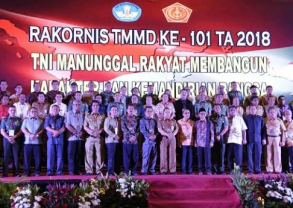 Asisten 1 Setda Inhil Hadiri Rakornis TMMD ke-101 di Jakarta