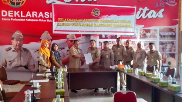 Kadiskominfo Drs Yusmar, MSi, Apresiasi Kantor ATR BPN Rokan Hulu