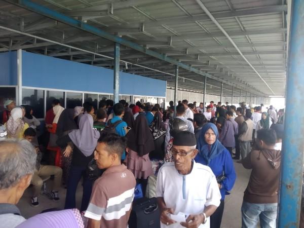 PT Pelindo I Cabang Tanjungpinang Bersama Agen Pelayaran Gelar Mudik Gratis