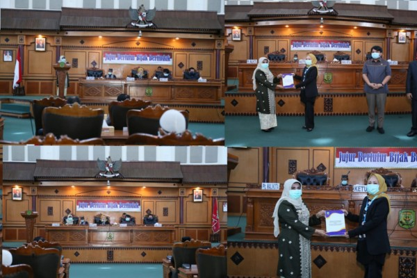 Rahma Sampaikan LKPJ Walikota Tahun Anggaran 2019