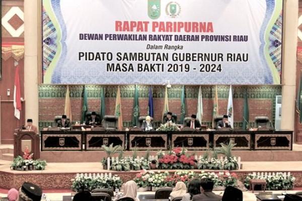 DPRD Riau Gelar Paripurna, Pidato Sambutan Gubri Masa Bakti 2019-2024