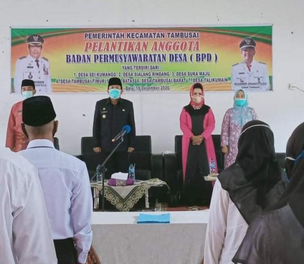 Bupati Rohul Melantik 51 Anggota BPD Tujuh Desa Se-Kecamatan Tambusai