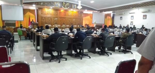 Sidang Paripurna DPRD Kuansing Sampaikan Nota Pengantar Pertanggung Jawaban Tahun 2019