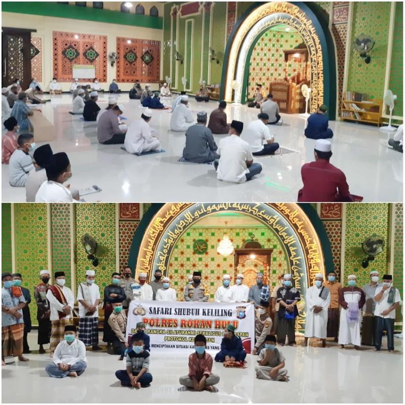 Giat Sholat Subuh Keliling, Kapolres Rohul Ajak Masyarakat Untuk Memperkuat Silaturahmi