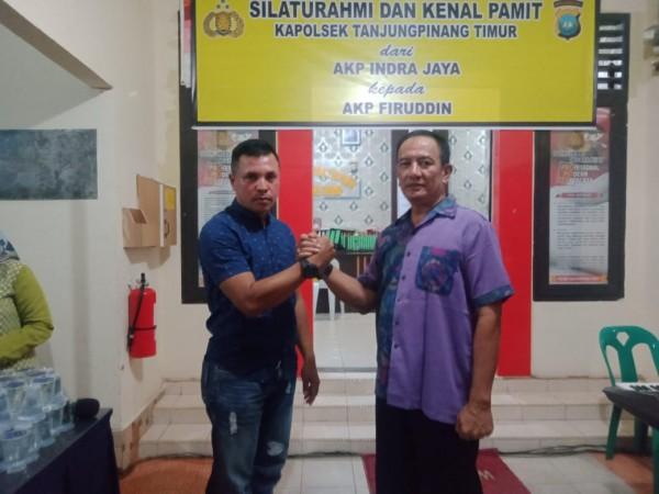 Pisah Sambut Jabatan Kapolsek Tanjungpinang Timur dari AKP Indra Jaya kepada AKP Firuddin