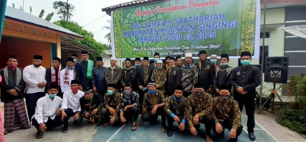 Pelantikan Pengurus Baru DPD jama'ah Syathariyah Kabupaten Kuantan Singingi Berjalan Lancar