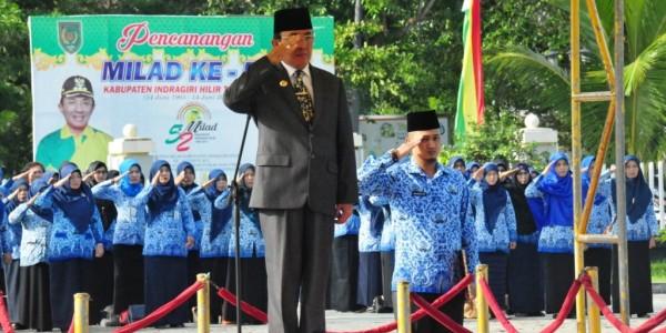 Bupati Wardan Pimpin Upacara Bendera Peringati Harkitnas Ke – 109 Tahun 2017