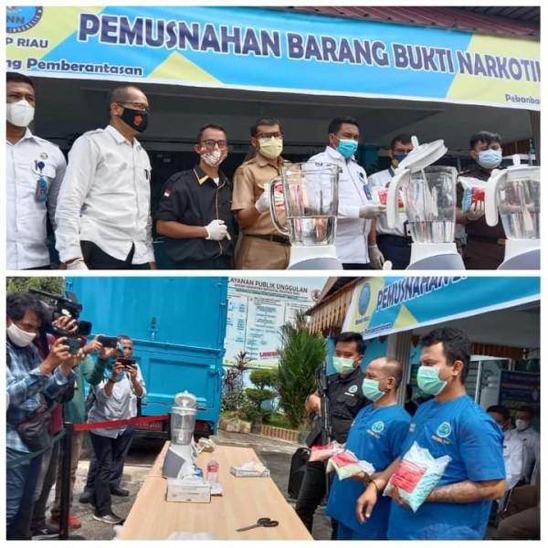 BNNP Riau Musnahkan 6 Ribu lebih Pil Ekstasi Yang Akan Dikirim Melalui Jasa Ekspedisi J&T