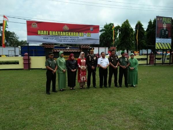Wakil Bupati Kampar Hadiri Peringatan Hari Bhayangkara Ke-72