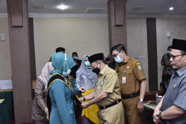 Hj Herawati Dilantik Menjadi Bunda Literasi Kabupaten Bengkalis