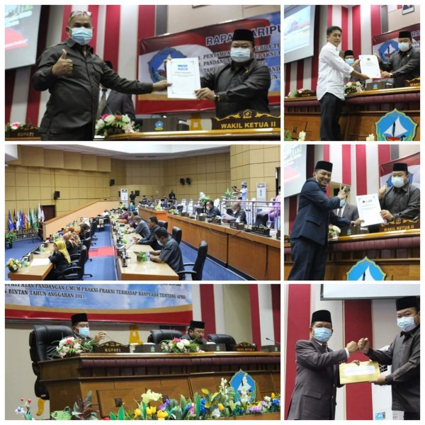 DPRD Bintan Gelar Rapat Paripurna Penyerahan Ranperda APBD 2021