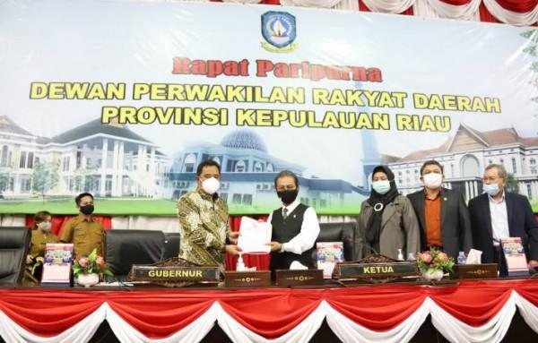 Pjs Gubernur Bahtiar menyampaikan Rancangan KUA-PPAS APBD Tahun Anggaran 2021