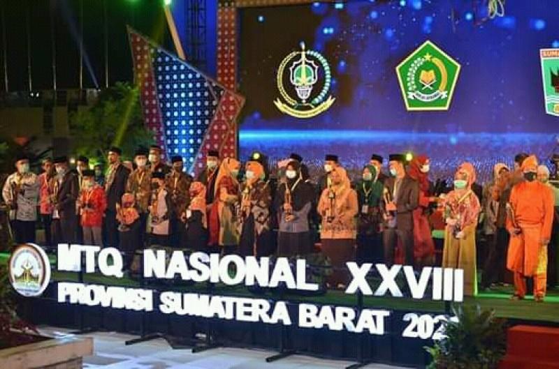 Kafilah Sumbar Juara Umum MTQ Nasional XXVIII  2020