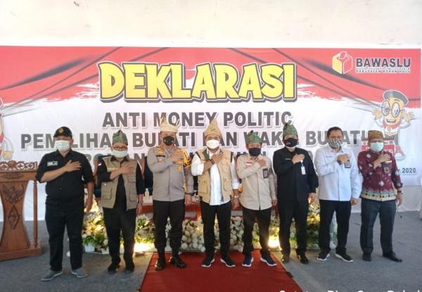 Deklarasi Aksi Money Politik, Pemkab Rohul  Berharap Pilkada Serentak Ini Benar-Benar Terlepas Dari Money Politik