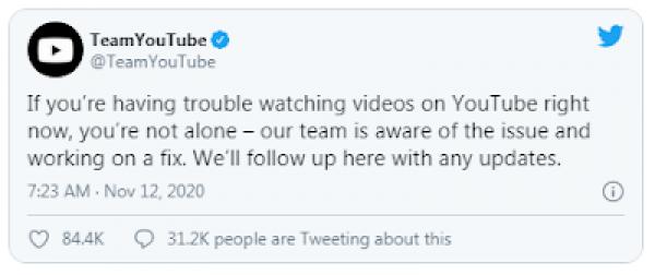#YouTubeDown, Ini Penjelasan dari YouTube