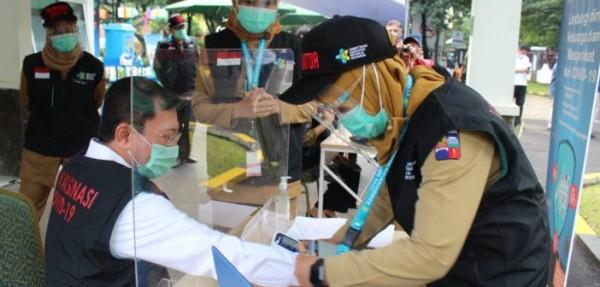 Presiden Tinjau Pelaksanaan Simulasi Vaksinasi COVID-19 di Bogor