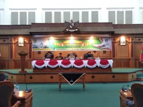 DPRD Kota Tanjungpinang Gelar Rapat Paripurna Penandatanganan Nota Kesepakatan Tahun 2020
