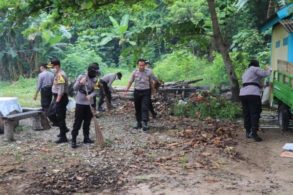 Polres Kepulauan Anambas Gelar Bakti Sosial Di Desa Tiangau