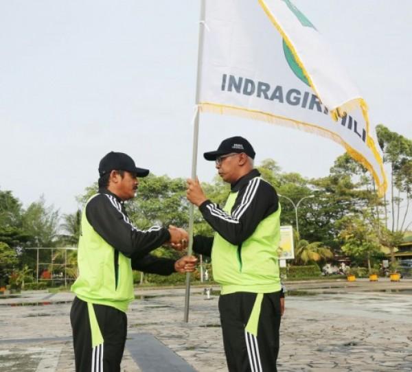 Pj Bupati Inhil Lepas Kontingen POPDA Ke - XIV Provinsi Riau Tahun 2018