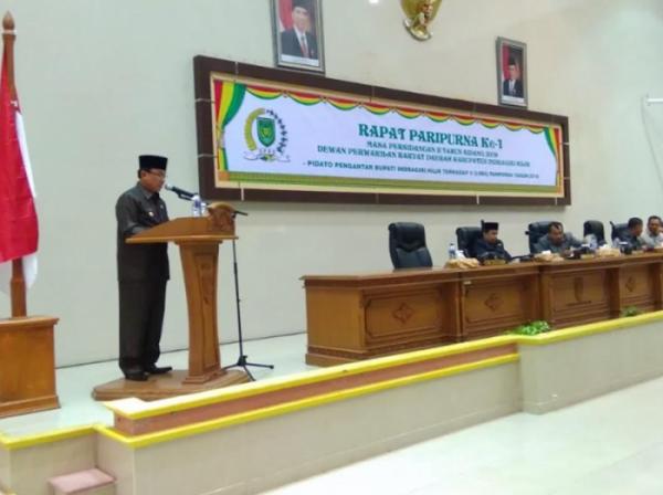 Bupati Inhil Sampaikan Pidato Pengantar Terhadap 5 Ranperda 2018