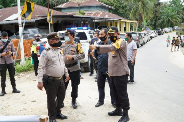 Polres Rohul Monitoring Kegiatan Kampanye Paslon  No 3 Yang Menghadirkan Ustadz Prof.H.Abdul Somad,Lc.MA.P.hd