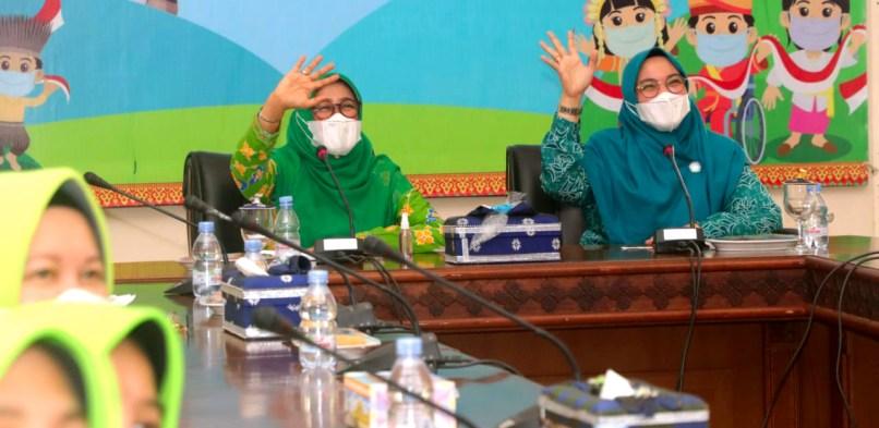 Bunda PAUD Kabupaten Siak Rasidah Alfedri Buka kegiatan Peringatan Hari Anak Nasional Tingkat Kabupaten Tahun 2021