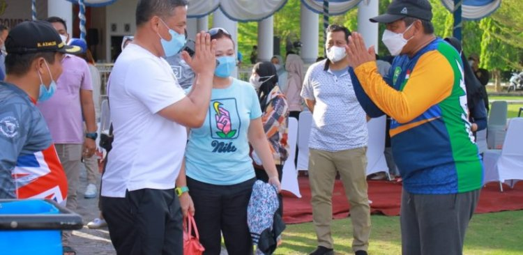 Bupati Alfedri Sambut Kunjungan Kapolda Riau ke Negeri Istana Usai Gowes dari Pekanbaru