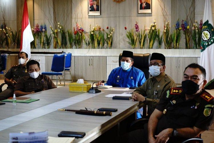 Bupati Siak Ikuti Rakor Prokes Bersama Mendagri Melalui Vidcon