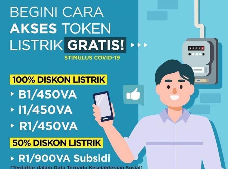 Cara Dapatkan Token Listrik Gratis Januari 2021, Login www.pln.co.id untuk Klaim Stimulus Covid-19