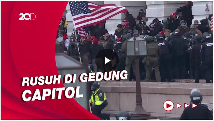 Detik-detik Kerusuhan di Gedung Capitol AS Menelan Korban Jiwa