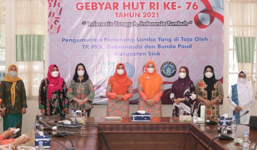 TP PKK, Dekranasda dan Bunda Paud Gelar Lomba Meriahkan HUT RI Ke-76