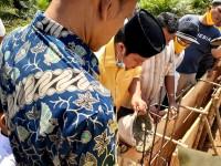 Ketua DPRD Kuansing Hadiri Peletakkan Batu Pertama Pembangunan Surul Nurul Akbar Desa Lubuk Kobun