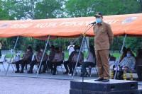 Walikota Pekanbaru Pimpin Apel Gelar Pasukan Kesiapsiagaan Tanggap Bencana