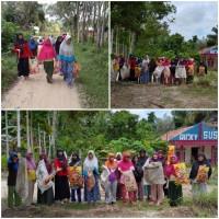 Masyarakat Kampung Pulau Bintang Desa Pasarbaru Pangean Peringati World Clean Up Day 2020 Dengan Gotong Royong