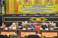 DPRD Pekanbaru Rapat Paripurna ke - 4 Penyampaian Ranperda LPP APBD 2019