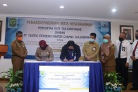 Pemko Tanjungpinang Bersama PT Taspen Teken Nota Kesepahaman Kerja Sama Jaminan Kecelakaan Kerja