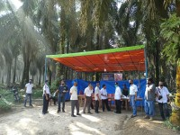 Poskowas Desa Suka Maju Kecamatan Singingi Hilir Dapat Kunjungan Dari Bupati Kuansing