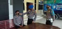 Provos Polres Kuantan Singingi Laksanakan Kegiatan Pendisiplinan Pakai Maske