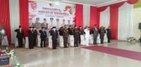 Bupati Kabupaten Kuantan Singingi H Mursini Pimpin Upacara Bendera HUT Kemerdekaan RI 75