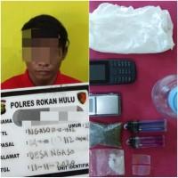 Polres Rohul Kembali Mengamankan TP Jenis Narkotika Shabu dan Narkotika Jenis Daun Ganja Kering