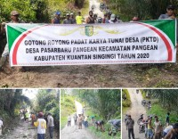 Warga Dusun Pulau Bintang Pangean Laksanakan Gotong Royong