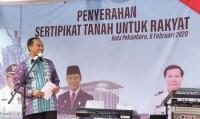 Pemko Pekanbaru akan Tuntaskan Sertifikasi Aset Tanah dan Bagikan Sertifikat Program PTSL Tahun 2019