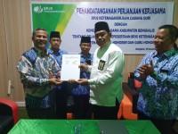 BPJamsostek Duri dan Kemenag Bengkalis Tandatangani Perjanjian Kerjasama