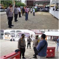 Kapolres Rohul Melakukan Monitoring Serta Pengecekan Langsung Kesiapan Personil Polres Dalam Pengamanan Kantor KPU