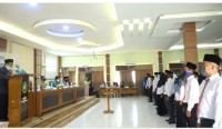 Anggota PTPS Se-Kecamatan Rambah Hilir, Resmi Dilantik Ketua Panwaslu Rambah Hilir