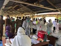 Bergerak Cepat, Bupati Kuansing  Lakukan Tes Swab Massal Di  Kecamatan Singingi Hilir