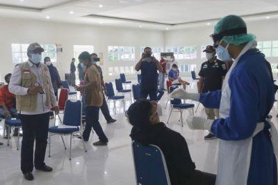 Bupati Siak dan Kapolres Tinjau Rapid Swab Antigen di IKPP Perawang