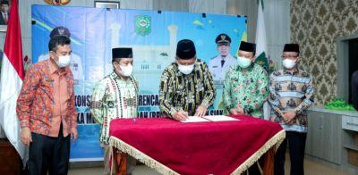 Bupati Siak H. Alfedri Buka Forum Konsultasi Publik Rancangan Awal RPJMD Kabupaten Siak tahun 2021-2026