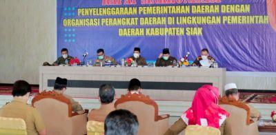 Bupati Siak Pimpin Rapat Sinkronisasi Penyelenggaraan Pemerintah Daerah