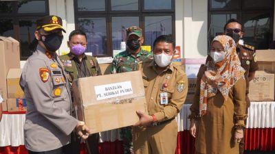 Kapolres Pelalawan Tinjau Pelaksanaan Kegiatan Vaksin Gotong Royong PT. Serikat Putra